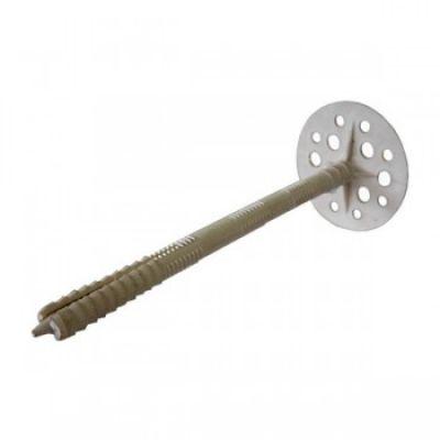Фото - Дюбель для изоляции IZM (гриб) с металлическим гвоздем 10х200(500шт)