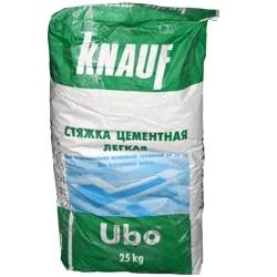Фото - Стяжка цементная легкая КНАУФ-УБО 25кг
