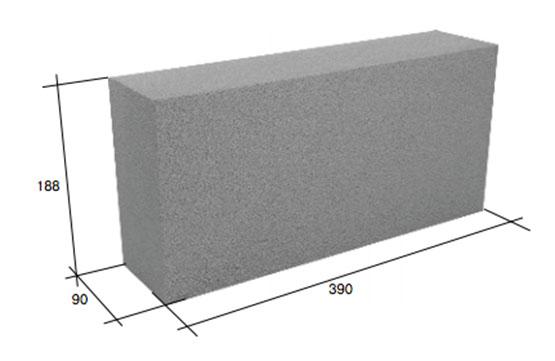 Фото - Перегородочный полнотелый бетонный блок СКЦ-3ЛК плотность 2250