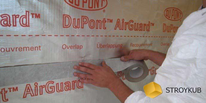 Фото - DuPont AirGuard SD-5 пароизоляция (75м2)(Изоспан)