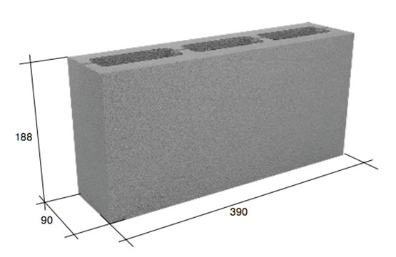 Фото - Перегородочный пустотелый бетонный блок 20-10-40