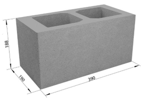 Фото - Стеновой 2-пустотный блок СКЦ-1Р  (40х20х20)