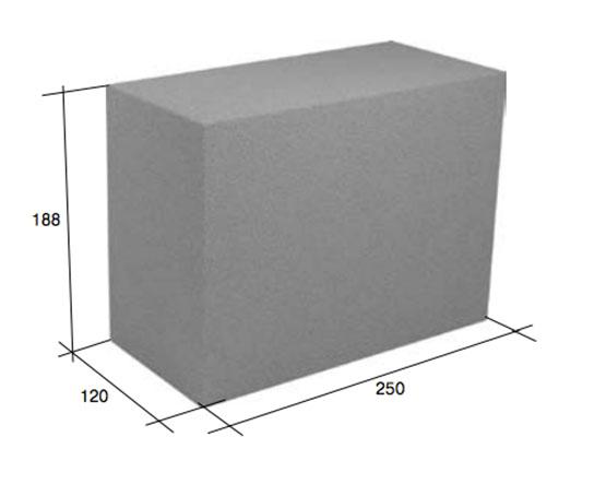 Фото - Полнотелый фундаментный блок 40х20х10