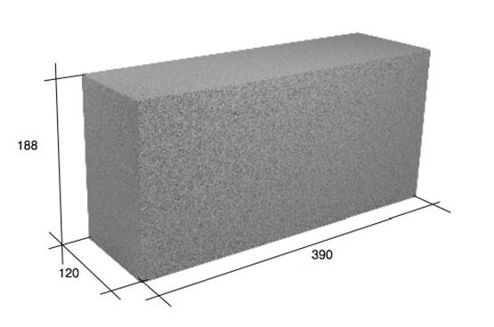 Фото - Полнотелый фундаментный блок 40х20х20