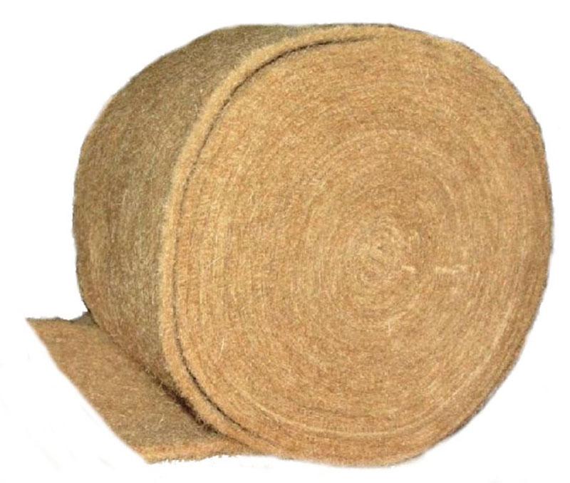 Фото - ватин из джута 0,15х20м (100%первичное волокно) , толщина -10  мм (шт)(Бангладеш)