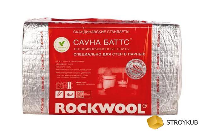 Фото - Каменная вата РОКВУЛ  (Rockwool)Сауна баттс 1000*600*50(4,8м2)(0,24м3)