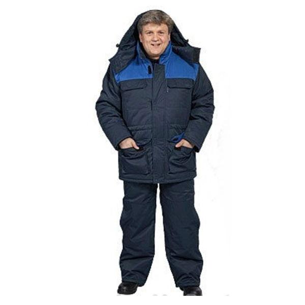 Фото - Костюм мужской Буран зимний т-синий с васильковым