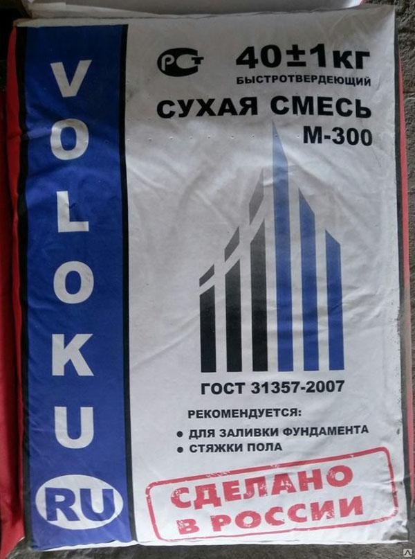 Фото - Пескобетон М300 VOLOKU 40 кг